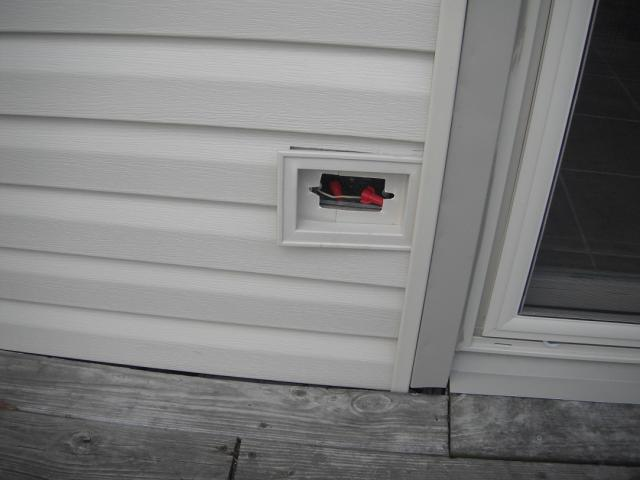 Exterior Electrical Box With Live Wires And No GFCI Outlet. (Worth Home  Inspection Photo Part 56
