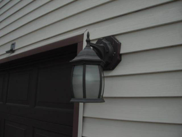 Exterior Light Fixture Is Missing A Vinyl Mounting Block Peotone Home I